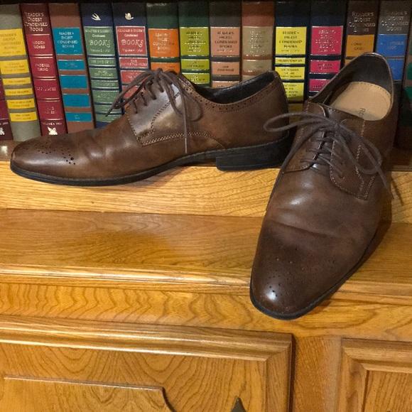 2247ea1e7ce1 Robert Wayne Shoes | Tobacco Mens Vesper Derby Oxfords | Poshmark